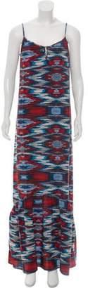 Cynthia Vincent Silk Printed Maxi Dress Blue Silk Printed Maxi Dress
