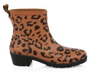 Hunter Leopard Print Original Refined Rainboots