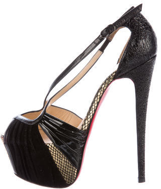 Christian Louboutin  Christian Louboutin Embellished Peep-Toe Pumps