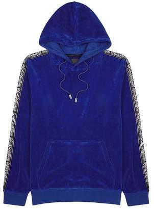 Blood Brother Default Blue Hooded Velvet Sweatshirt