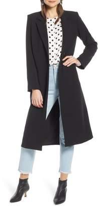 Something Navy Feminine Topper Coat