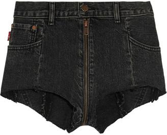 Vetements - Levi's Distressed Denim Shorts - Black $1,000 thestylecure.com