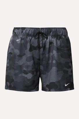 Nike Rebel Camouflage-print Dri-fit Jersey Shorts - Black