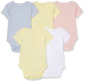 Mothercare Baby Girls Pastel Pointelle Bodysuits - 5 Pack Bodysuit,(Manufacturer Size:50CM)