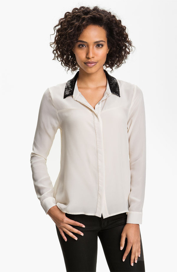 Patterson J. Kincaid 'Mollow' Sequin Collar Blouse