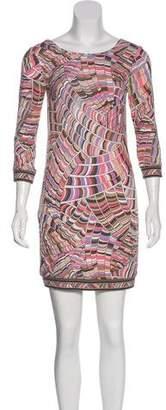 Trina Turk Pattern Bodycon Mini Dress