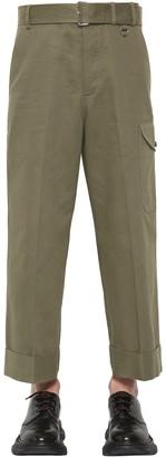 Alexander McQueen Cover Cotton Gabardine Trousers
