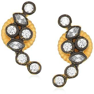 Freida Rothman Womens Signature Cluster Stone Stud Earrings