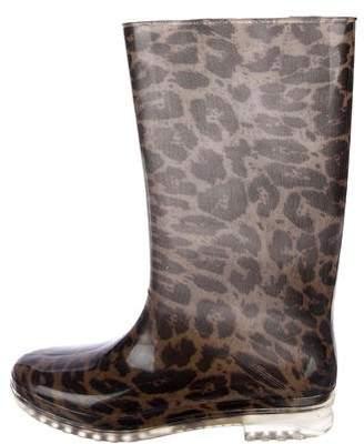 Stuart Weitzman Printed Rain Boots