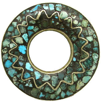One Kings Lane Vintage East Indian Mosaic Turquoise Dress Clip - Thanks for the Memories