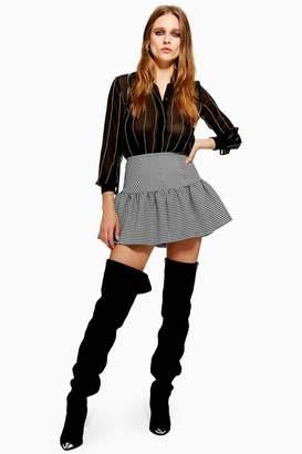 Topshop Houndstooth Mix Mini Skirt