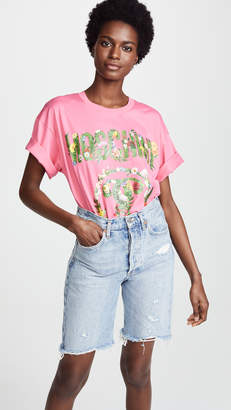 Moschino Oversize Floral Logo Tee