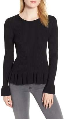 Chelsea28 Lightweight Ruffle Rib Knit Sweater