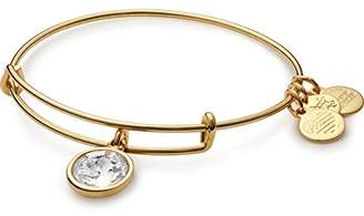 Alex and Ani April Birth Month Expandable Charm Bracelet, Crystal, Shiny Gold-Tone