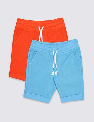 Marks and Spencer 2 Pack Pure Cotton Jersey Shorts (3 Months - 7 Years)