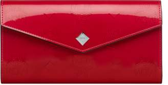 MCM Two-fold Wallet In Monogram Patent Leather