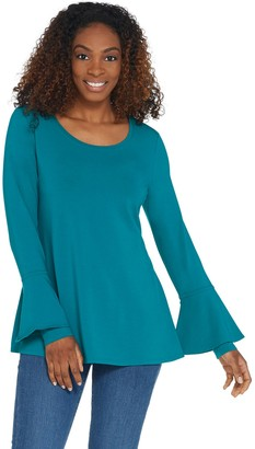 Isaac Mizrahi Live! Scoop Neck Tunic with Bell Sleeve Detail