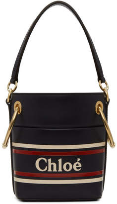 Chloé Navy Mini Roy Bucket Bag