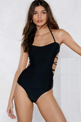 Nasty Gal Back to Back Strappy Swimsuit