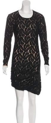 A.L.C. Crew Neck Lace Dress