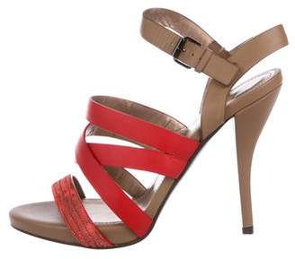 Lanvin Leather Multi-Strap Sandals
