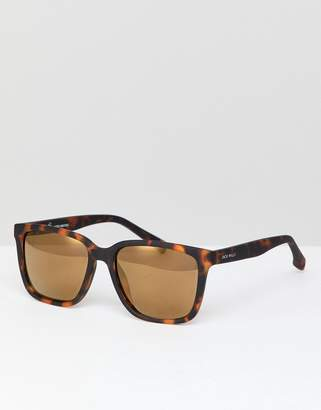 Jack Wills Square Sunglasses in Brown