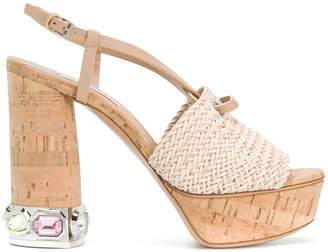 Casadei cork platform sandals