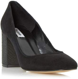 Dune LADIES ABELL - Block Heeled Round Toe Court Shoe