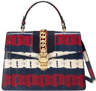 Gucci Sylvie medium printed top handle bag