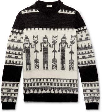 Saint Laurent Slim-Fit Jacquard-Knit Sweater