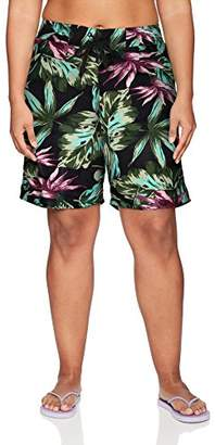 Kanu Surf Women's Plus Size Hayley UPF 50+ Active Printed Swim and Workout Board Short