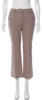 Diane von Furstenberg Mid-Rise Wide-Leg Pleated Pants