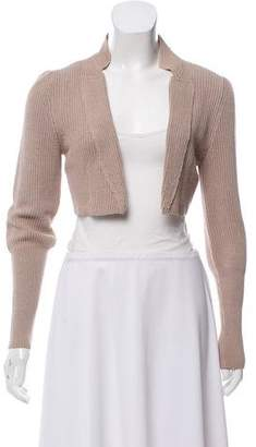 Brunello Cucinelli Crop Open-Front Cardigan