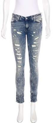 IRO Low-Rise Distressed Jeans
