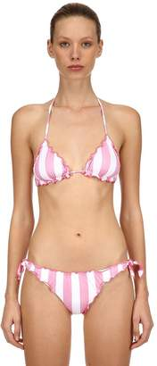 MC2 Saint Barth Striped Lycra Triangle Bikini Top