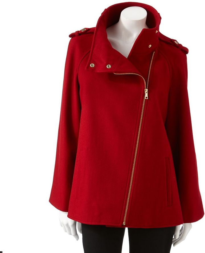 Dana Buchman wool-blend cape coat