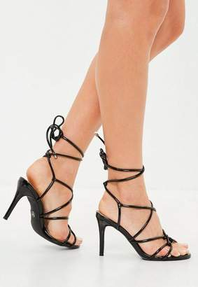 542f12cff847 Missguided Black Multi Strap Gladiator Mid Heel Sandals
