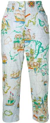Kenzo Pre-Owned map print trousers