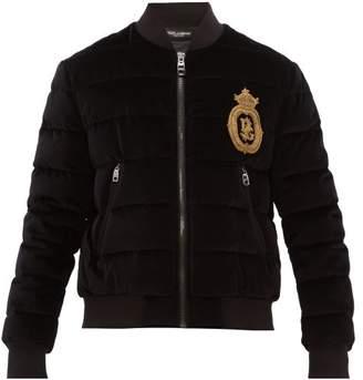 Dolce & Gabbana Beaded Cotton Velvet Jacket - Mens - Black