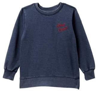 Lucky Brand Lucky State Of Mind Long Sleeve French Terry Sweater (Toddler & Little Boys)