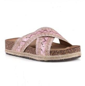 Nature Breeze Comfort Slide Cork Sandals in Pink