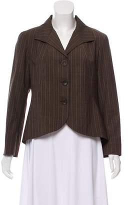 Lafayette 148 Striped Wool Blazer