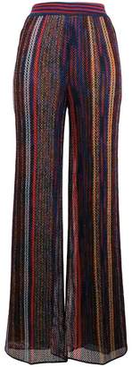 Missoni striped knitted flared trousers