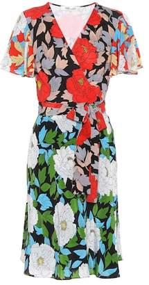 Diane von Furstenberg Floral-printed silk wrap dress