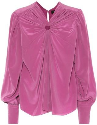 Isabel Marant Lenore silk crepe blouse