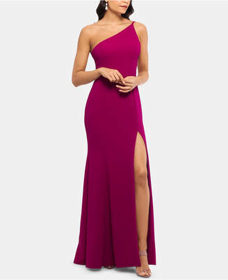 Xscape Evenings Petite One-Shoulder Gown