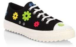 Moschino Flower Low-Top Sneakers