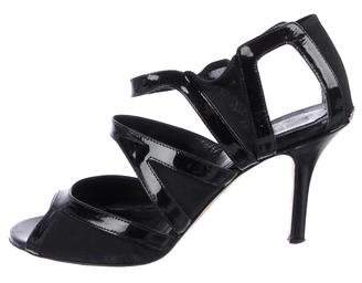 53c88eaf281c Christian Dior Patent Leather Cutout Sandals