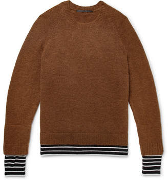 Haider Ackermann Wool And Cashmere-Trimmed Knitted Sweater