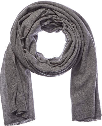 Qi Grey Smoke Cashmere Wrap Scarf